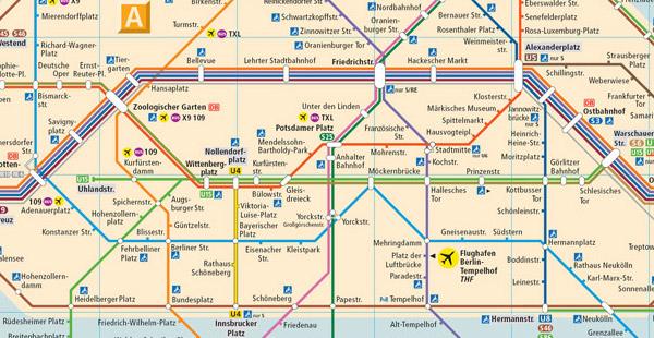 Das Streckennetz welcher Stadt zeigt dieser Ausschnitt?