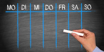 Welcher Wochentag ist nächste Woche dein Glückstag?