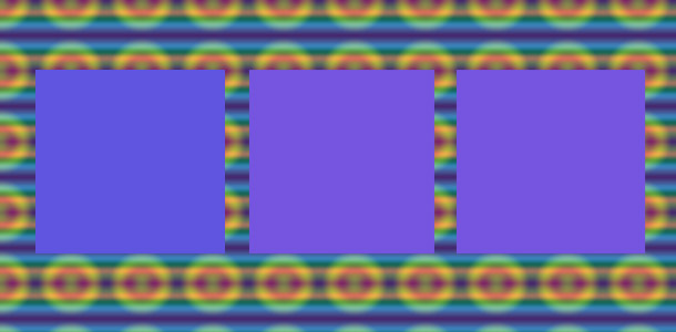 Los geht's: welches Viereck ist andersfarbig?