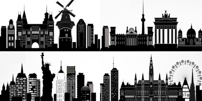 Kannst du diese 10 Städte anhand ihrer Silhouette erkennen?