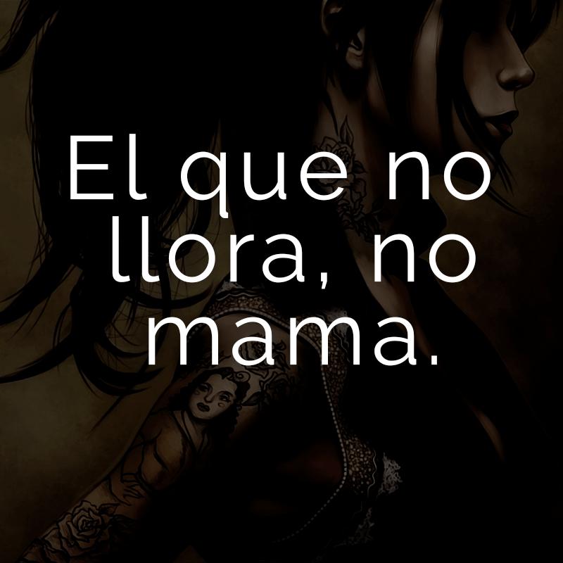 El que no llora, no mama. (Spanisch für: Von nichts kommt nichts.)