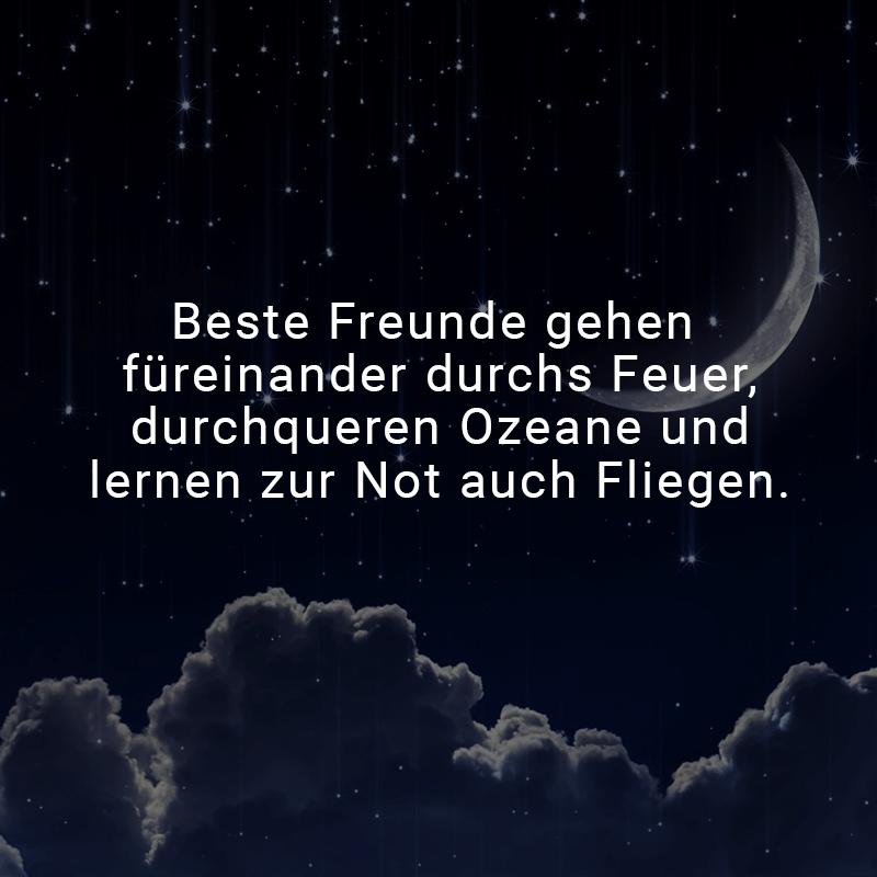 Beste Freunde gehen füreinander durchs Feuer, durchqueren Ozeane und lernen zur Not auch Fliegen.