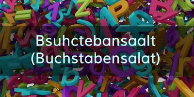 Buchstabensalat – erkennst du diese 20 Begriffe?