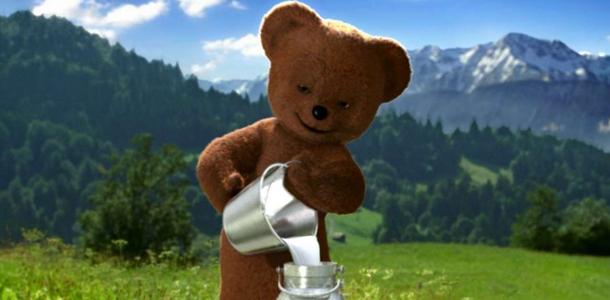 Wofür wirbt dieser Bär?