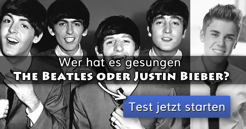 wer hat es gesungen die beatles oder justin bieber. Black Bedroom Furniture Sets. Home Design Ideas