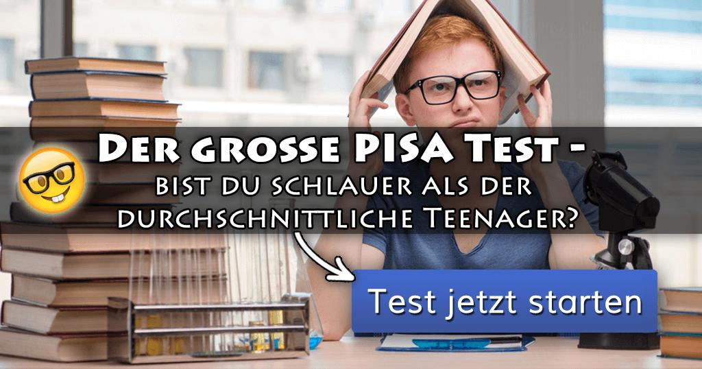 ᐅ Der Große Pisa Test Bist Du Schlauer Als Der Durchschnittliche
