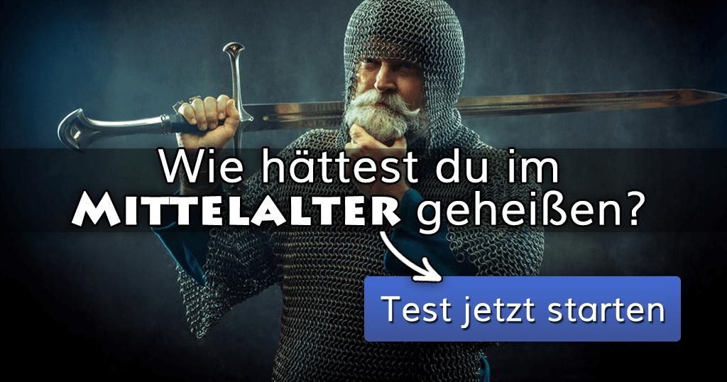 ᐅ Wie hättest du im Mittelalter geheißen?