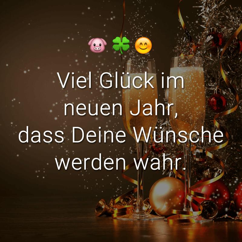 ᐅ Viel Glück im neuen Jahr, dass Deine Wünsche werden wahr.