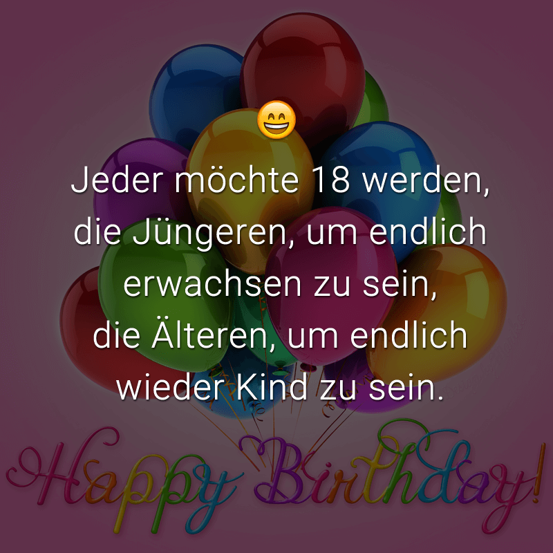 Spruch Zum 18 Geburtstag