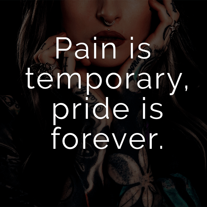 ᐅ Pain Is Temporary Pride Is Forever Englisch Für