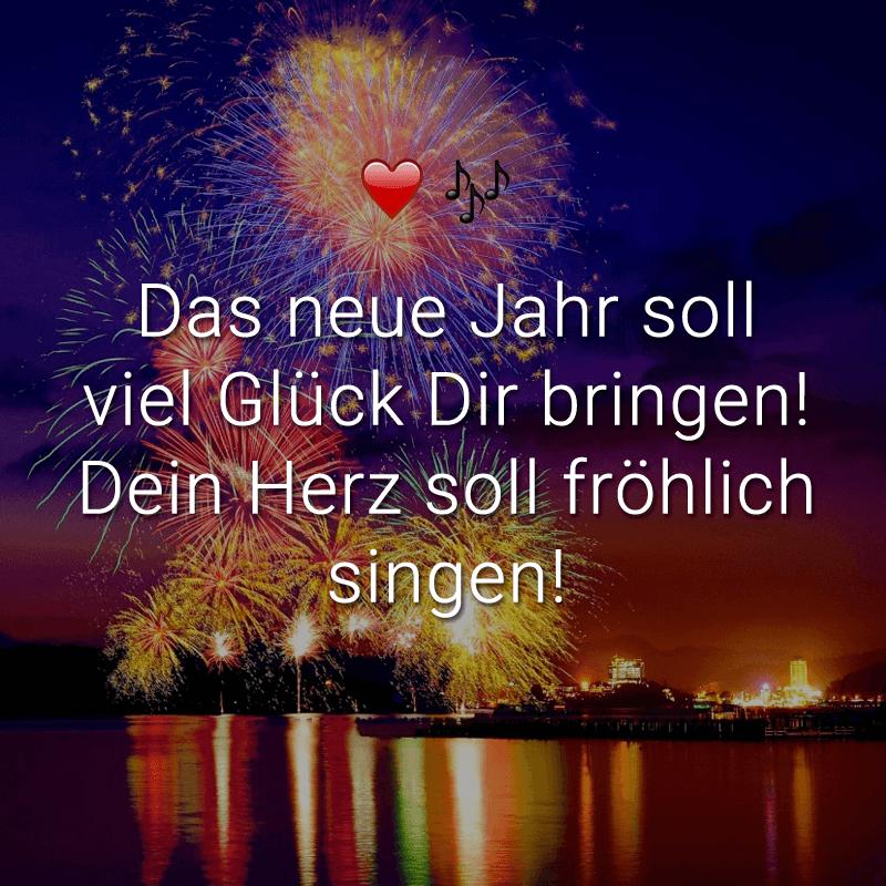 ᐅ Das neue Jahr soll viel Glück Dir bringen! Dein Herz soll