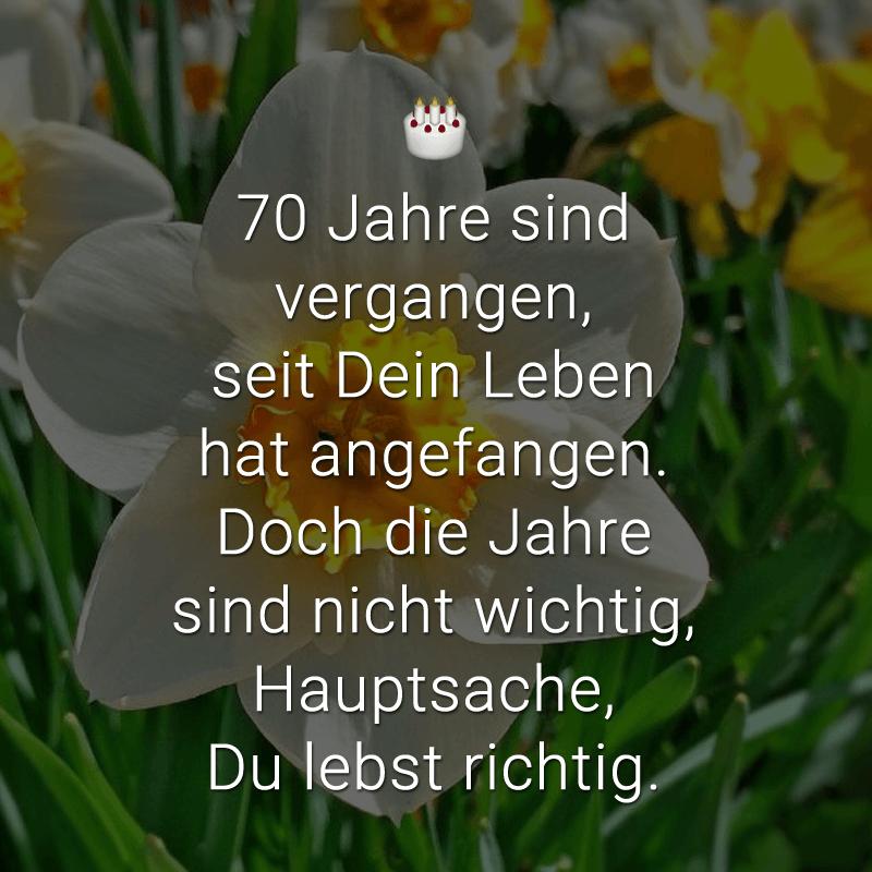 Spruche Zum 70 Geburtstag