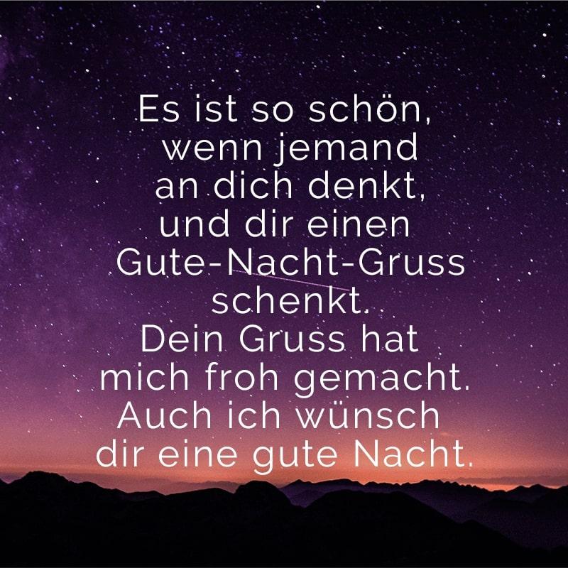Nacht whatsapp gute sprüche grüße 50 »Wunderschöne«