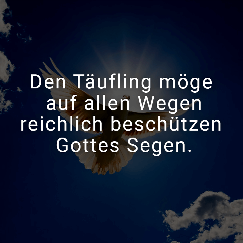Bon Den Täufling Möge Auf Allen Wegen Reichlich Beschützen Gottes Segen.