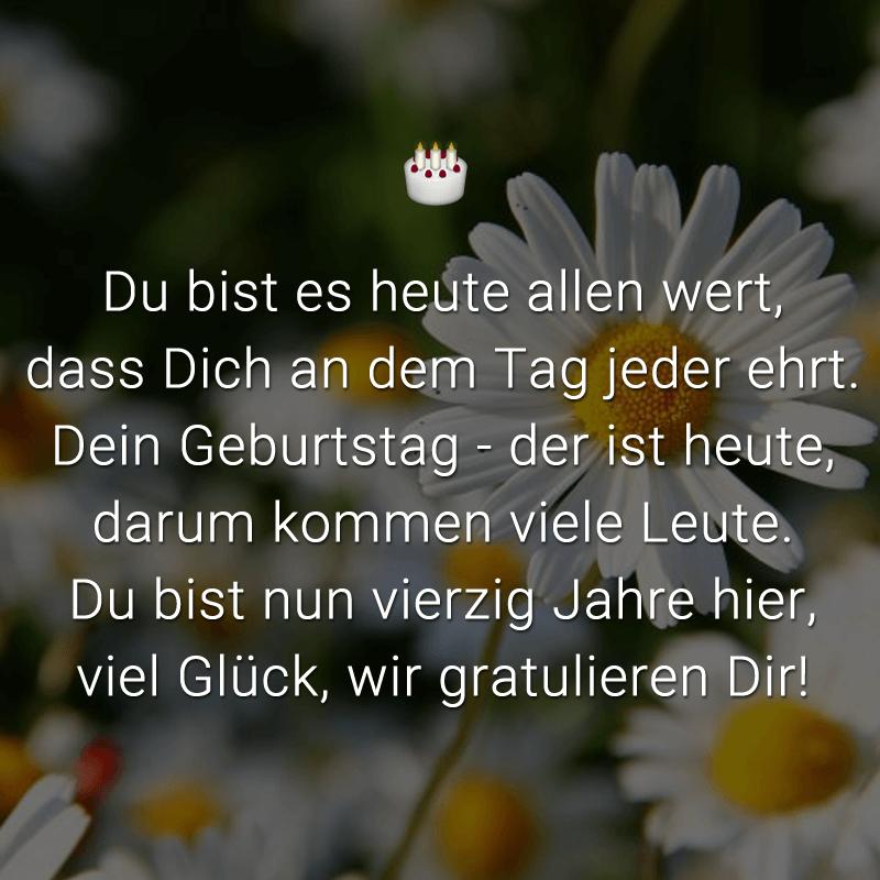 Spruche Zum 40 Geburtstag Lustig