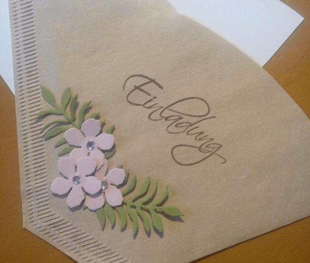 Originelle Geburtstagseinladung zum Kaffee: Filtertüten gestalten